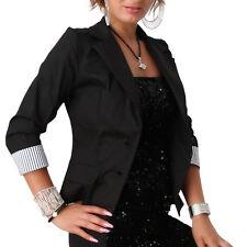 Blazer Jacke Basic Bolero Cardigan Schulterjacke Capes Übergangsjacke talliert