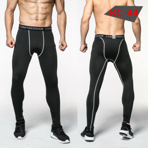 New Compression Pants Base Under Layer Men/'s Sports Apparel Skin Tights Long