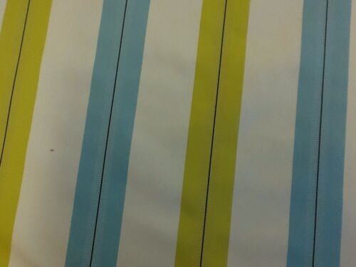 Ashley Wilde Haddon Stripe In Azure Designer Curtain Fabric By The Metre