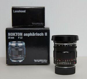 Voigtlander-35mm-f-1-2-1-2-Nokton-II-Aspherical-Leica-M-Fit-MINT-CONDITION