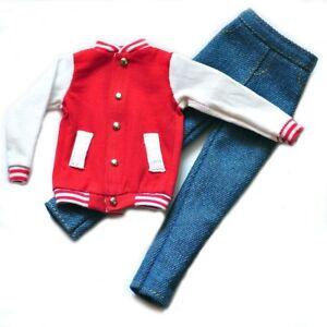 "Handmade doll Baseball Jacket clothes for  12/""  ken dolls"