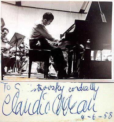 1958 Pianist CLAUDIO ARRAU Hand SIGNED AUTOGRAPH Signature ART PHOTO Autogramme