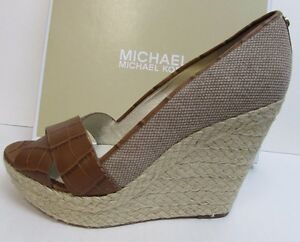 Michael-Kors-Size-10-Leather-Wedge-Heels-New-Womens-Shoes