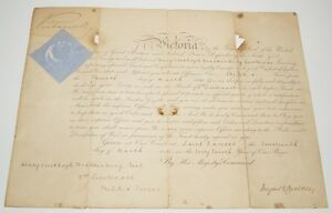 Genuine-Signed-Autographed-1881-Officer-Commission-document-by-Queen-Victoria