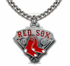 "BOSTON RED SOX NECKLACE for MALE or FEMALE - 24"" CHAIN MLB GIFT FREE SHIP  CA2*"