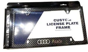 S LINE Carbon Fiber License Plate Frame Audi S3 S4 S5 S6 S7 S8 A3 A4 A5 A6 A7 Q5