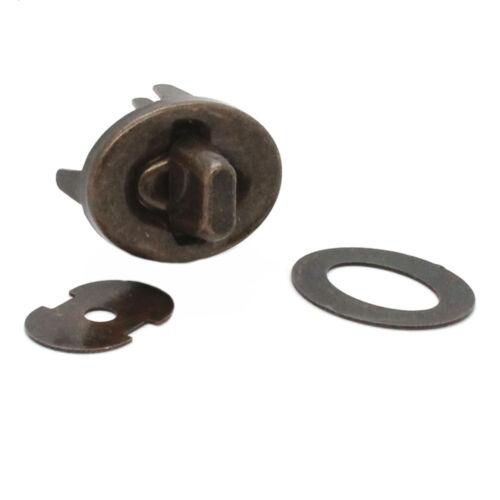 4 Piece Turn Lock Set Steel Antique Brass 21736-09