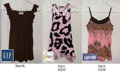 Gap Kids Shirts Circo Uproar Girls Tank Tops Sizes L 10 12 14 16 XL
