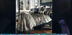 Kylie Minogue Bedding ESTA TRUFFLE - Double Duvet+2 Pillow Cases+1 Square P Case