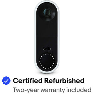 Arlo AVD1001-100NAR Essential HD Video Wi-Fi  Doorbell – Certified Refurbished
