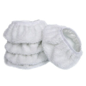 5PCS-7-8-034-180mm-Soft-Synthetic-Wool-Fleece-Buffing-Pads-White-Polish-Wax-Covers