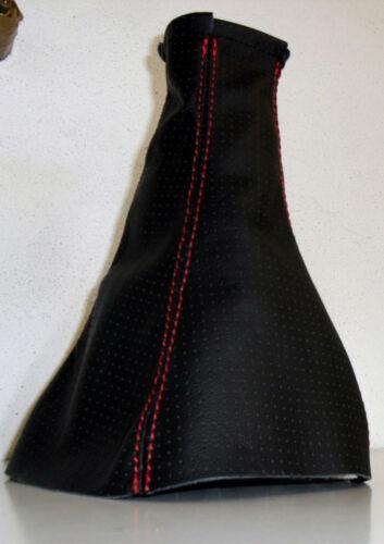 OPEL CORSA D /'06-10 SOLO CUFFIA CAMBIO IN VERA PELLE NERA
