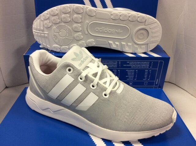 d712eddfa adidas Originals ZX Flux ADV Tech Textile White Grey Mens Running ...