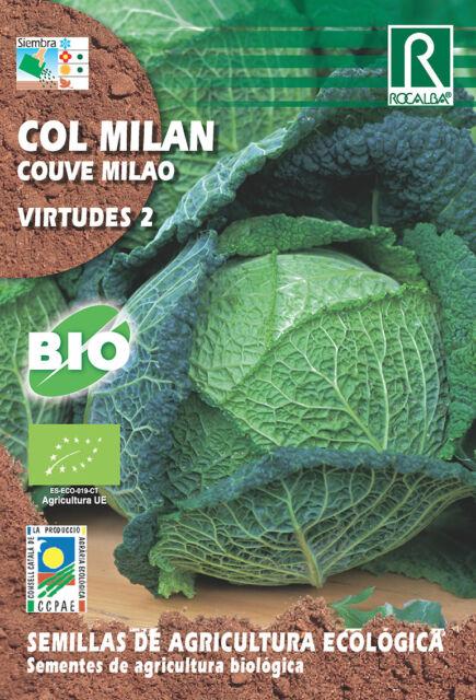 Semillas ECOLOGICAS Col Milan Virtudes II, Sobre 3 gr.