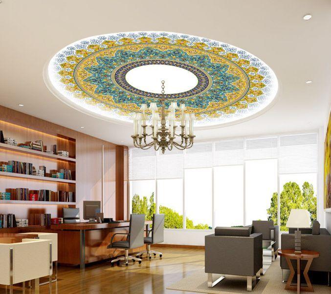 3D Elegant Flower Ceiling WallPaper Murals Wall Print Decal Deco AJ WALLPAPER GB