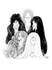 Al-Hirschfeld-039-s-AEROSMITH-Hand-Signed-Limited-Edition-Lithograph-Steven-Tyler