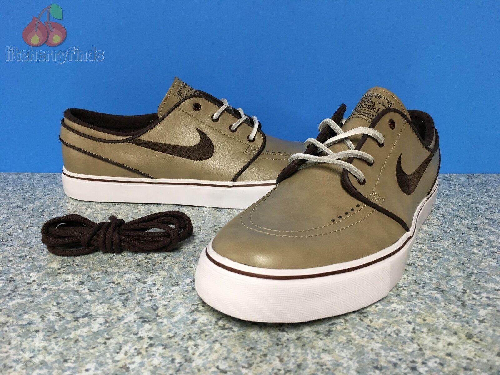 Nike SB Zoom Stefan Janoski OG Mens Size 9 Khaki Boulder Brown Leather 833603220