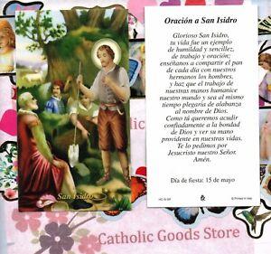 Oracion-un-San-Isidro-Espanol-Paperstock-Santa-Tarjeta