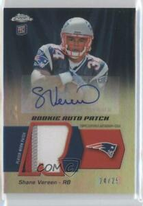 2011 Topps Chrome /25 Shane Vereen #RAP-SV RPA Rookie Patch Auto