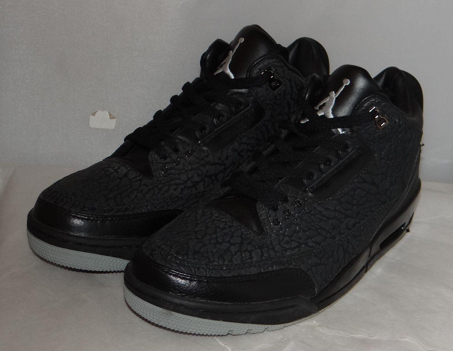 New Air Jordan 3 Black Black Black Flip Size 11.5 73278d