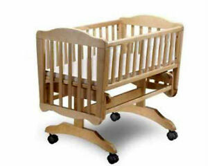 Baby Cradle With Wheels Nursery Furniture Bed Woodworking Plans Ebay