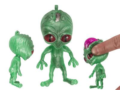Alien Squeeze Poo Porte Clé Porte-clés SV14669 Chaîne Stress Relief Espace UFO Squidgy