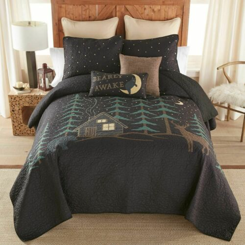 Donna Sharp Evening Lodge Quilted Rustic Cabin Country Queen 3-Piece Bedding Set