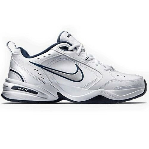 Nike Air Monarch White/Navy 415445-102 Leather Classic Casual Men