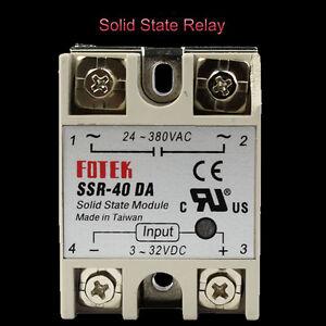 Fotek-Control-Solid-State-Relay-Module-SSR-40DA-40A-24-380V-AC-3-32V-DC-Input