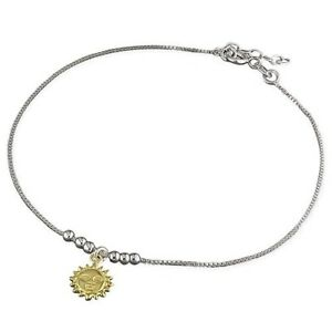 rope anklet gold ultra s p inch slim white chain ankle bracelet