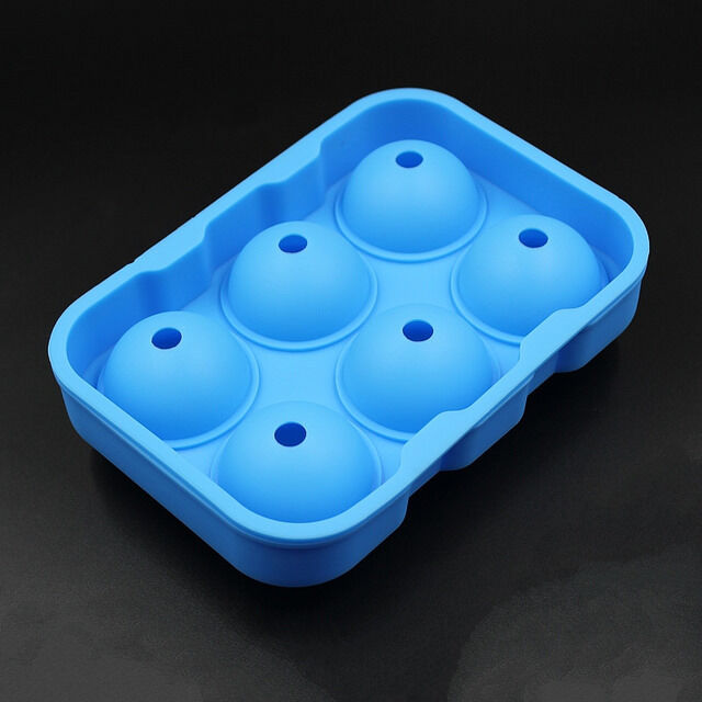 6 Balls LARGE ICE BALLS Ice Cube Tray Ice Mold Maker Whiskey Ice Ball Mould