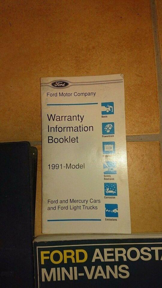 Haynes Reparationshåndbog, Ford Areostar Mini-Vans 1986