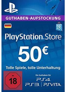 ps4 store karte DE €50 EUR PLAYSTATION NETWORK Prepaid Card Karte PSN PS3 PS4 PSP  ps4 store karte