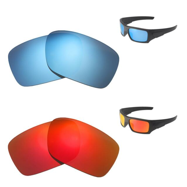 2df4783f06ab5 Walleva Fire Red + Ice Blue Polarized Replacement Lenses For Oakley Det Cord