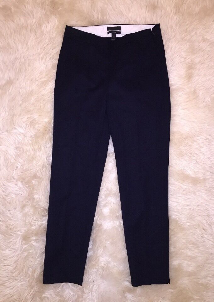 JCrew Martie Two Way Stretch 1960's Cigarette Pant Navy NWT 0P c2767 NEW
