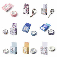 New Washi Tape 15mmX10m Roll Decorative Sticky Paper Masking Tape Adhesive