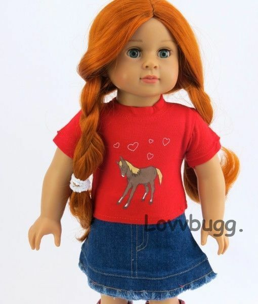 d84f63f6b Red Cowgirl Denim Skirt Set for 18