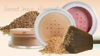 4pc Kit Kabuki Mineral Makeup Bare Skin Set Sheer Full Powder Cover Foundation