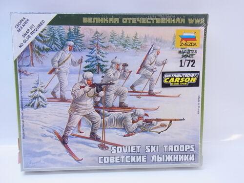 LOT 31848Zvezda 6199 Soviet Ski Troops 1:72 Bausatz NEU OVP