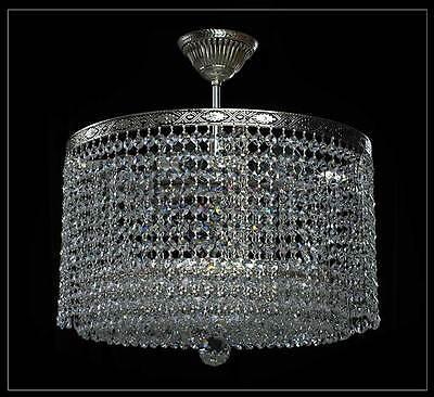 Wunderschöner Decken Kristall Kronleuchter in Antik Silber mit 6 Brennstellen