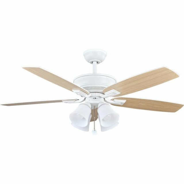 Hampton Bay Devron 52 In Led Indoor Matte White Ceiling Fan