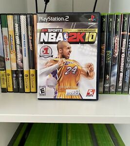 NBA 2K10 Tenth Anniversary - Playstation 2 PS2 - Complete - Tested
