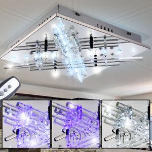 Details zu Deckenleuchte LED Wohnzimmer Lampe Farben fixierbar  Fernbedienung Dielenleuchte