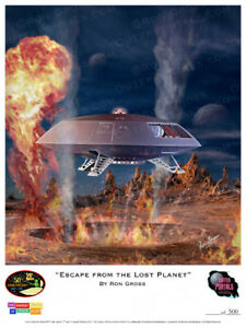 """/""""Impact on the Lost Planet/"""" Print Lost In Space Ron Gross"""