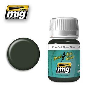Ammo-of-Mig-A-MIG-1608-Panel-Line-Wash-PLW-Dark-Green-Grey-Wash-Enamel-35ml
