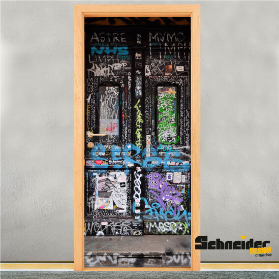 GRAFITTI TÜR Berlin - Türdesign Türfolie Türaufkleber Türskin Türbild Türbild Türbild Streetart 83358a