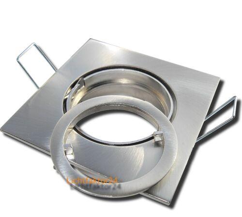 IP20 Einbaurahmen Fassung passend für 50mm Halogen oder LED Leuchtmittel PAR16