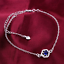 miniature 27 - 925 Sterling Silver Plated Anklet Ankle Bracelet Crystal Foot Chain Ladies CZ UK