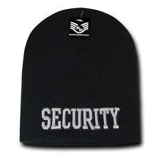 RapDom Security Public Safety Short Knit Beanie Cap [Adult - Black]