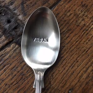 Vegan-Original-Antique-Up-cycled-Silver-Plated-Spoon-Food-Cookery-Eating-Gift